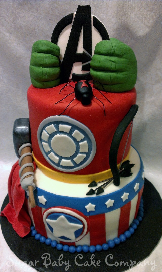 Avengers Birthday Cakes Avengers Birthday Cake An Avengers Cake I Made For A 4 Year Old