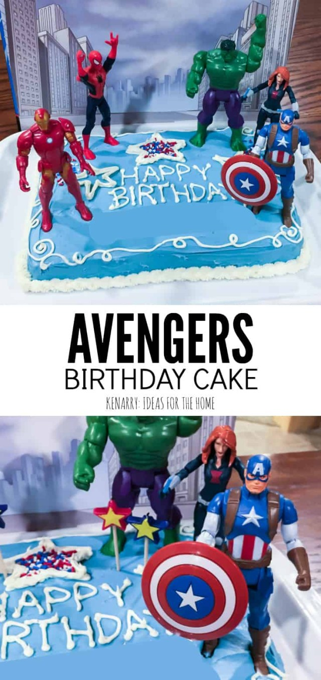 Avengers Birthday Cakes Avengers Birthday Cake Idea And Party Supplies Kenarry
