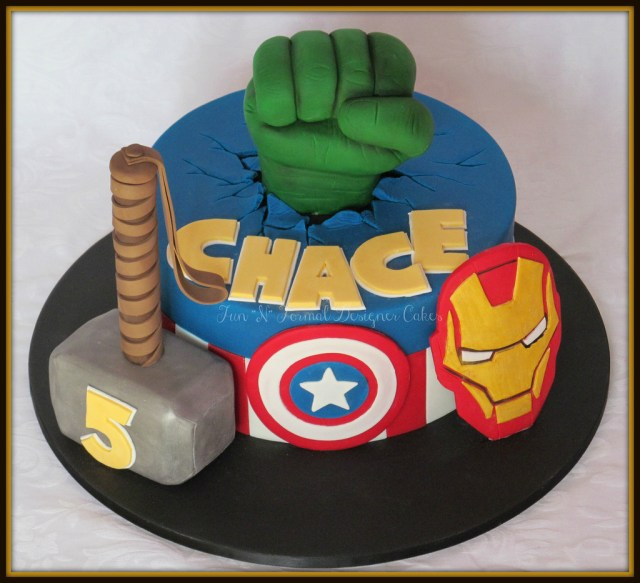 Avengers Birthday Cakes Avengers Themed Birthday Cake Melissa Woodward Flickr