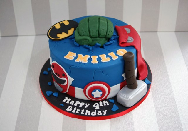 Avengers Birthday Cakes Power Rangers And Avengers Birthday Cake 1 Bakealous