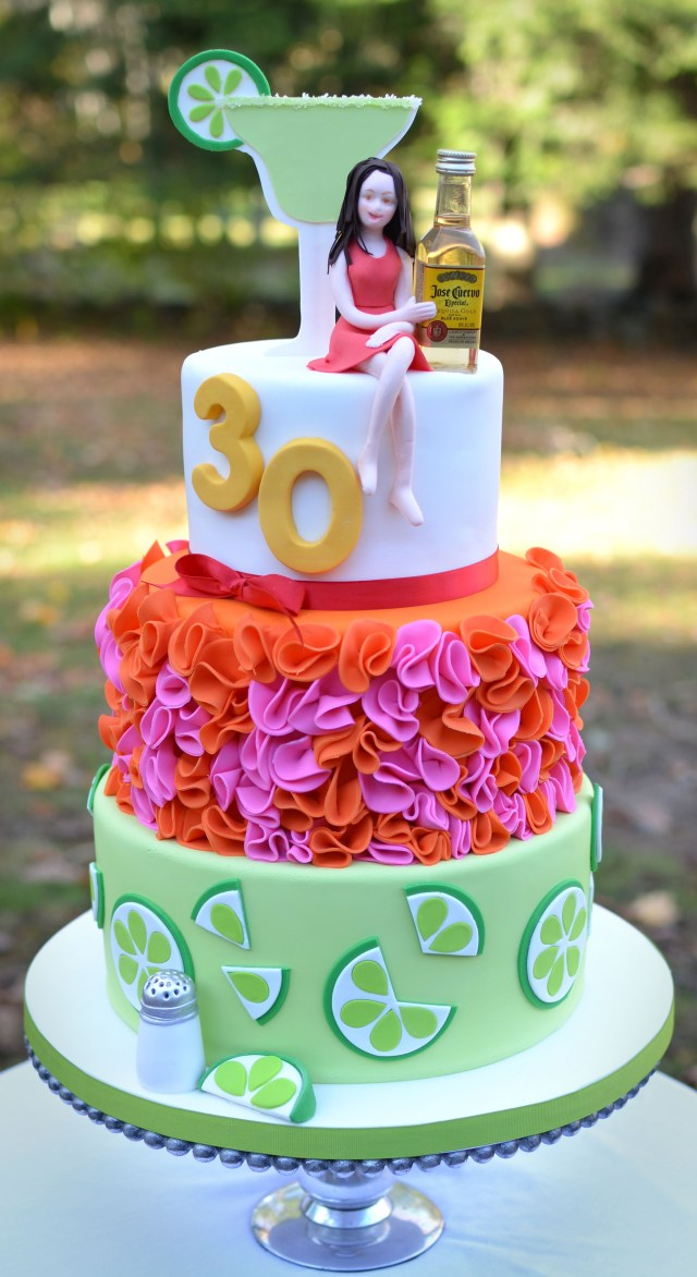 Awesome 30Th Birthday Cakes Margarita And Tequila Themed 30th Birthday Cake 30th Birthday Cakes