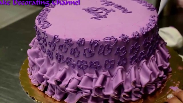 Baby Girl Birthday Cake Cake Decorating Tutorialcake Happy Birthday Ba Girl Youtube