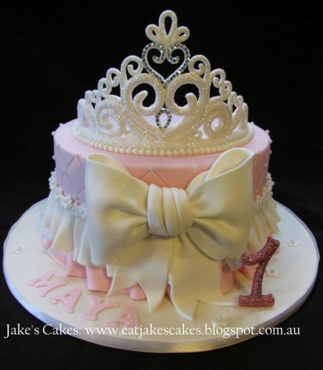 Baby Girl Birthday Cake My Ba Girls First Birthday Cake Loved It Princess Party