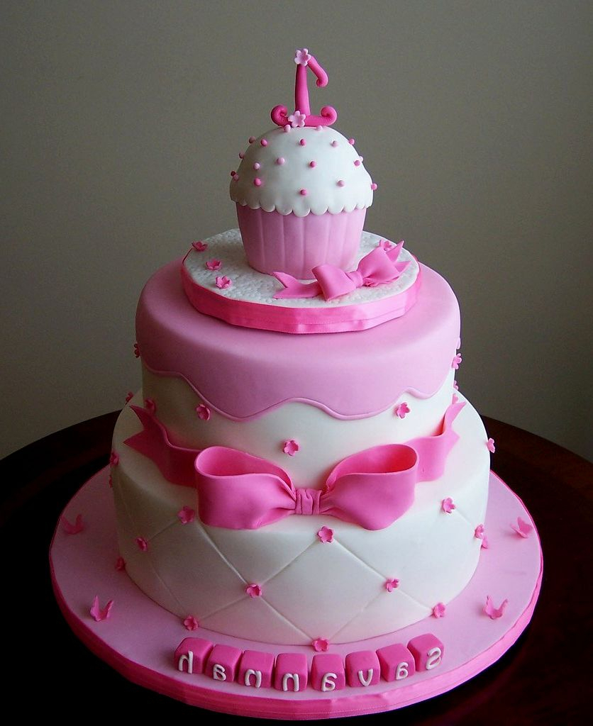 Baby Girl Birthday Cake Simple For 1 Year Old Ba