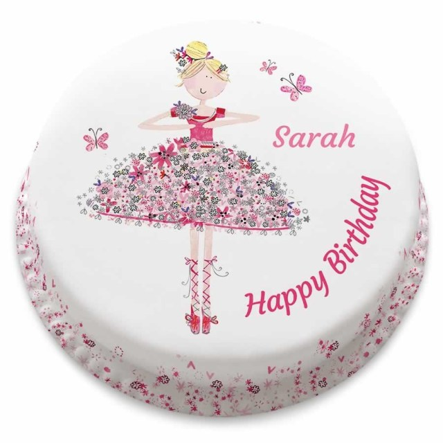 Ballerina Birthday Cake Ballerina Birthday Cake Personalise With Your Own Message From 1499