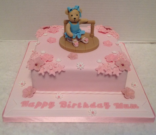 Ballerina Birthday Cake Teddy Ballerina Birthday Cake Liz Flickr