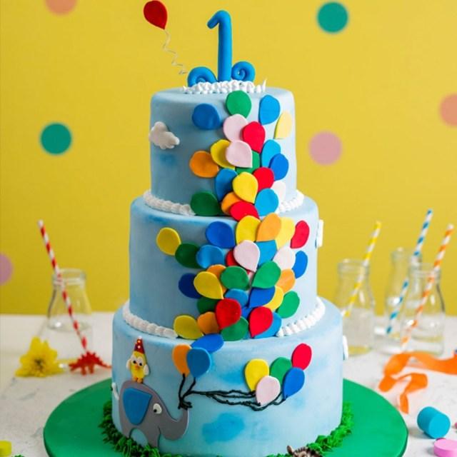 Balloon Birthday Cake Balloon Birthday Cake