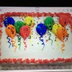 Balloon Birthday Cake Balloon Birthday Sheet Cake In Buttercream Cakes Pinterest