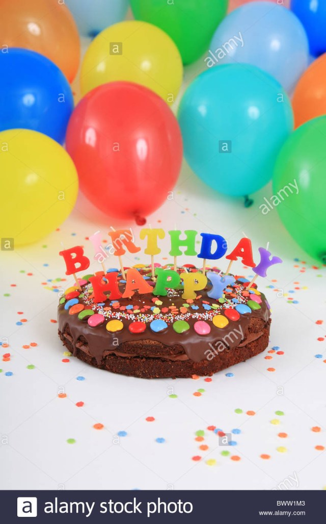 Balloon Birthday Cake Birthday Cakes Happy Birthday Cake Candles Balloons Party Decoration