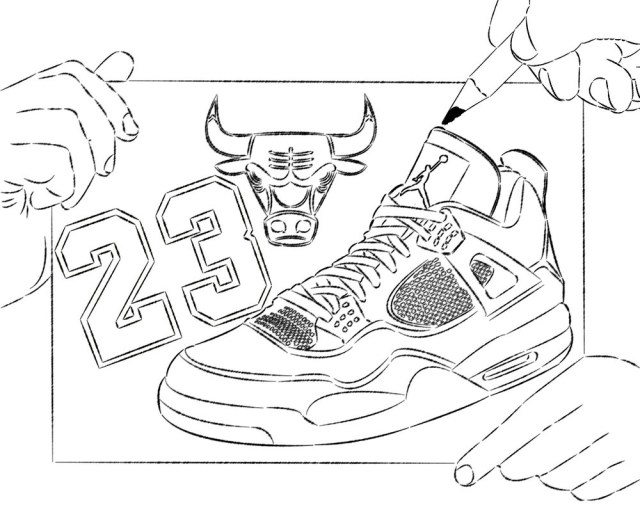 Basketball Coloring Pages Coloring Page Coloring Page Basketball Shoe Pages Shoe Coloring