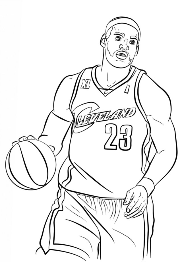 Basketball Coloring Pages Free Printable Nba National Basketball Association Coloring Pages