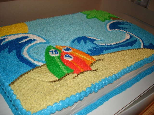 Beach Theme Birthday Cake 11 Simple Beach Cakes Photo Beach Theme Birthday Cake Easy Summer
