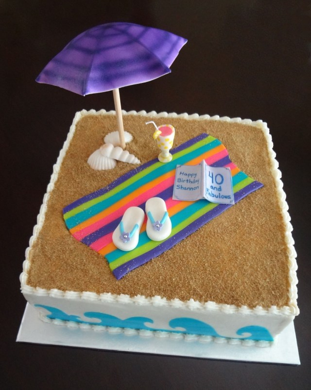 Beach Theme Birthday Cake Birthday Beach Cakes Beach Theme Cake Contest Cake Decorating