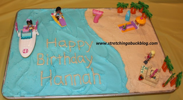Beach Theme Birthday Cake How To Make A Budget Beach Party Birthday Cake Stretching A Buck