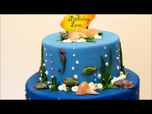 Beach Theme Birthday Cake Mermaid Theme Birthday Cake Beach Theme Party Youtube