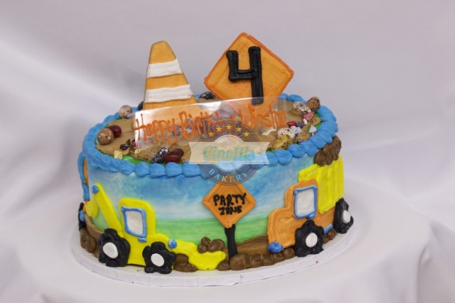 Birthday Cake Boy Construction Birthday Celebration Cake From Cinottis Bakery