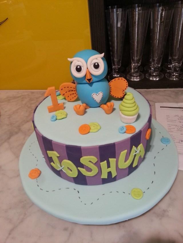 Birthday Cake Boy Single Tier Round Birthday Cake Boy Hoot The Delicious Biscuit