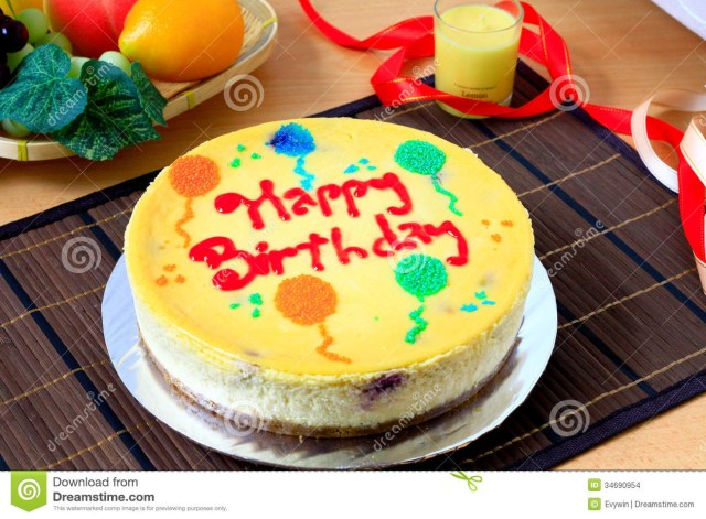 Birthday Cake Cheesecake Cheese Cake Stock Photo Image Of Cheesecake Indulgence 34690954