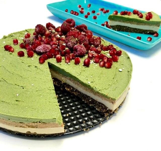 Birthday Cake Cheesecake Raw Vanilla Matcha Superfood Birthday Cake Vegan Nourished World