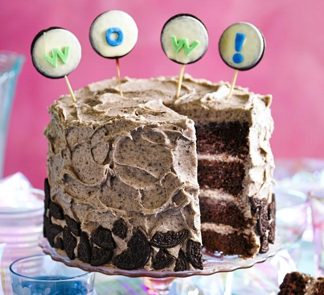 Birthday Cake Designs Cookies Cream Party Cake Recipe Bbc Good Food