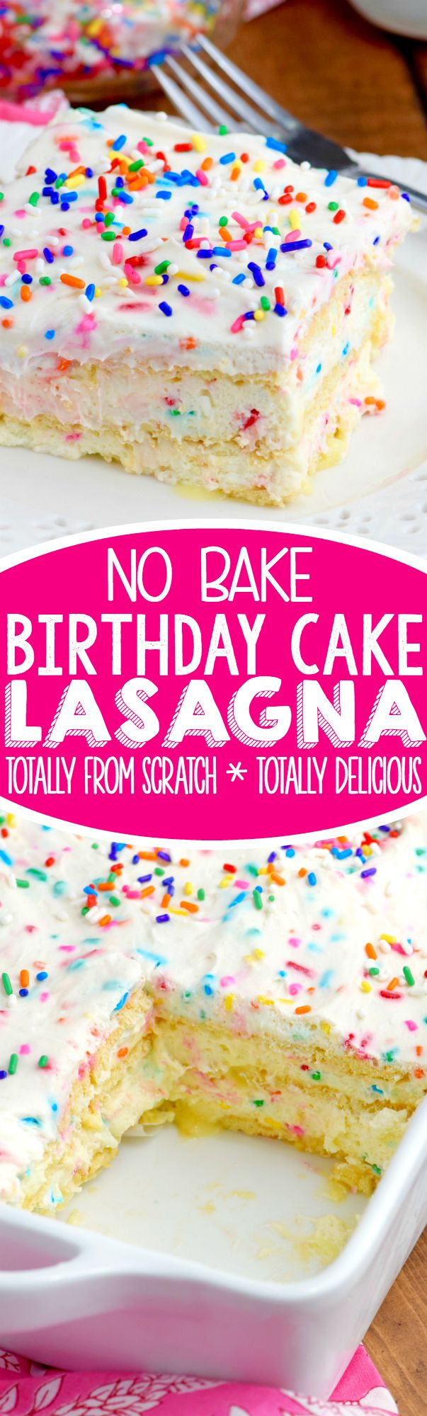Birthday Cake Flavors This No Bake Birthday Cake Lasagna Is The Perfect Dessert Full Of