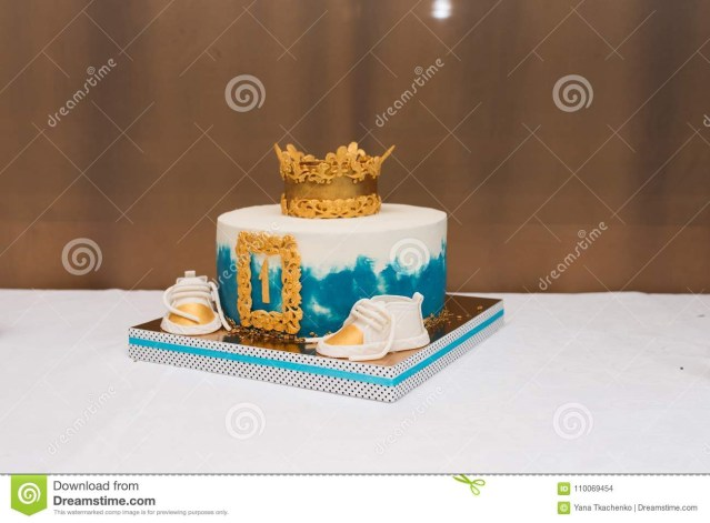 Birthday Cake For 1 Year Old Birthday White And Blue Cake For 1 Year Old Boy Birthday Cake For