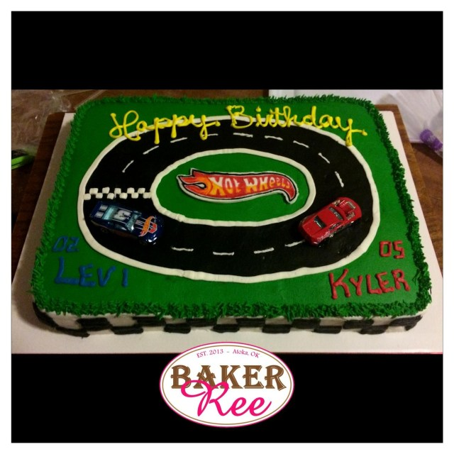 Birthday Cake For Brother Hot Wheels Birthday Sheet Cake For Brothers Combined Party