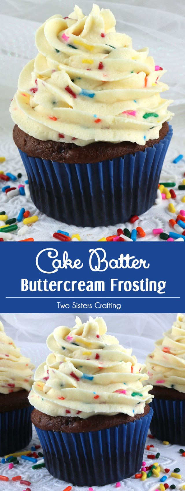 Birthday Cake Frosting Cake Batter Buttercream Frosting Two Sisters