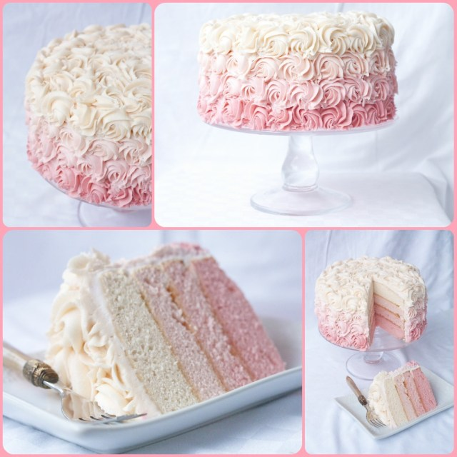Birthday Cake Icing Recipe A Bouquet Of Roses How To Make A Rose Ombre Cake Country Cleaver