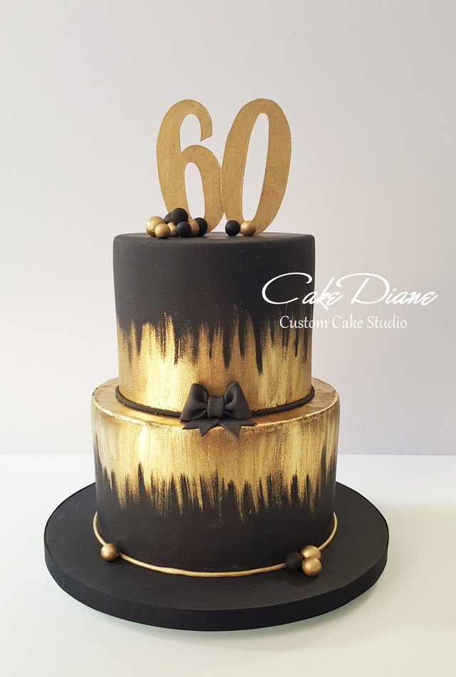 Birthday Cake Ideas For Adults Black And Gold Cake For A Mans 60th Birthday Adult Birthday