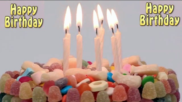 Birthday Cake Images With Candles Happy Birthday Cake With Blowing Candles Youtube
