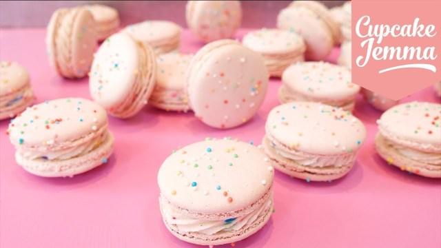 Birthday Cake Macarons How To Make Birthday Cake Macarons Cupcakes Youtube