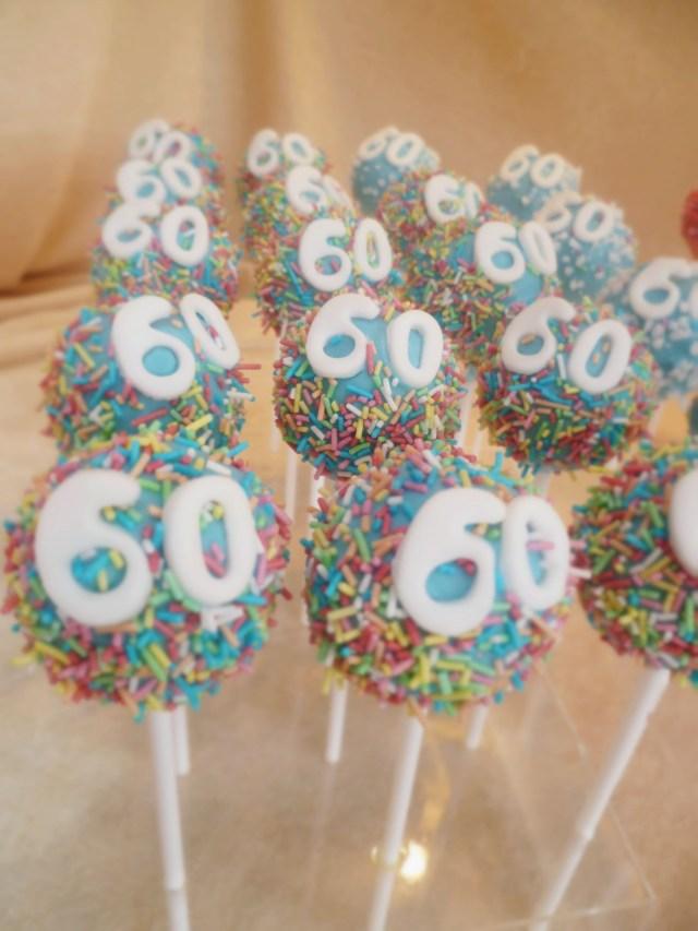 Birthday Cake Pops 60th Birthday Cake Pops Make That Birthday A Bit More Special Check