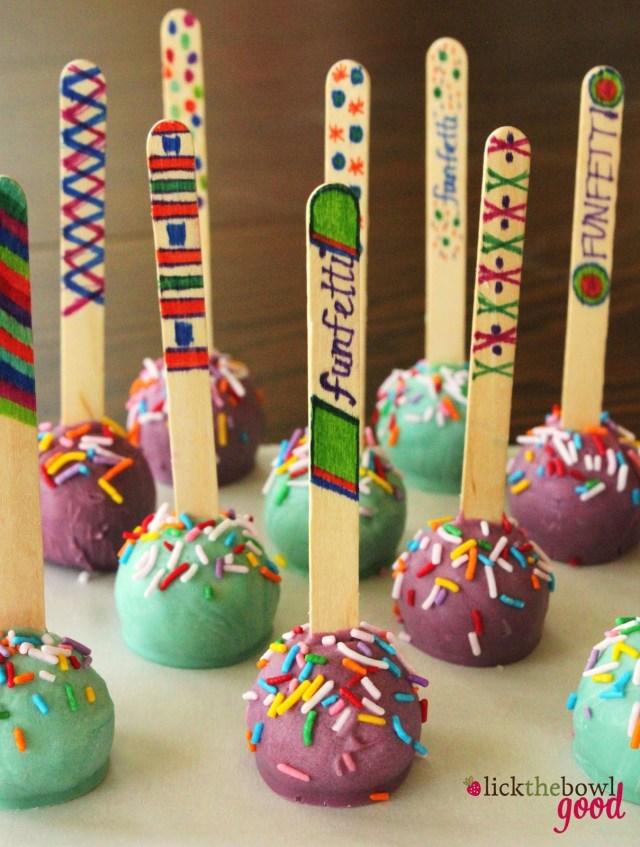 Birthday Cake Pops Lick The Bowl Good My Birthday Cakes And No Bake Cake Pops