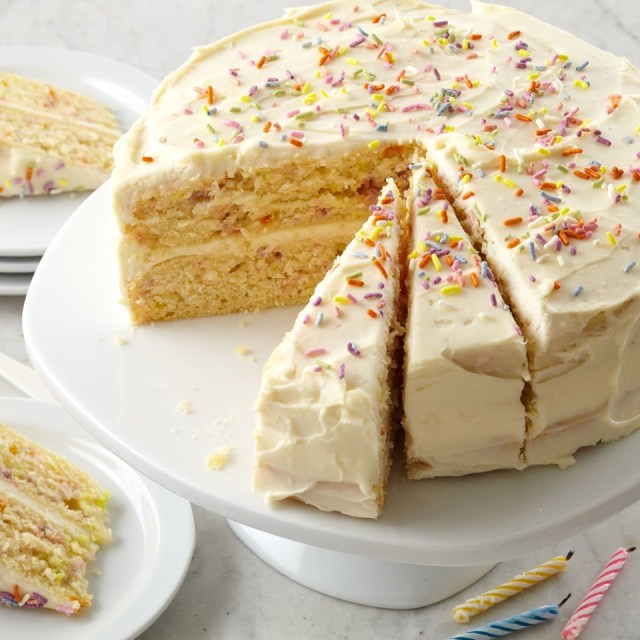Birthday Cake Recipes Confetti Birthday Cake Recipe Eatingwell