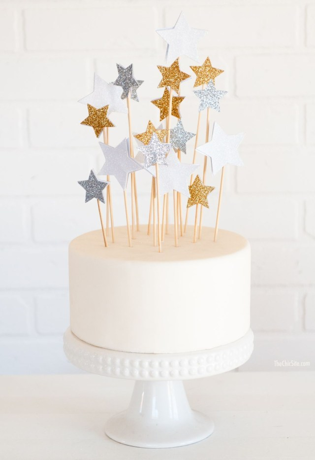 Birthday Cake Toppers For Adults Diy Star Cake Toppers Diy Cake Cake Decorating Birthday Cake