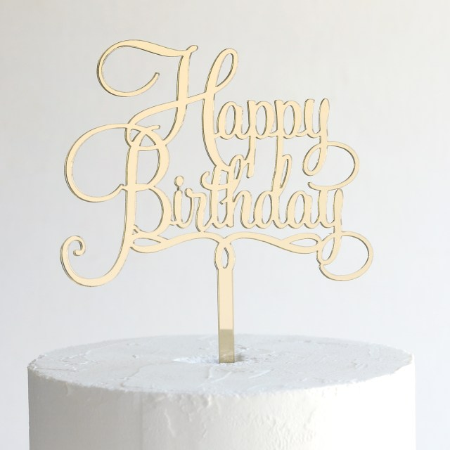 Birthday Cake Toppers For Adults Happy Birthday Cake Topper Sandra Dillon Design