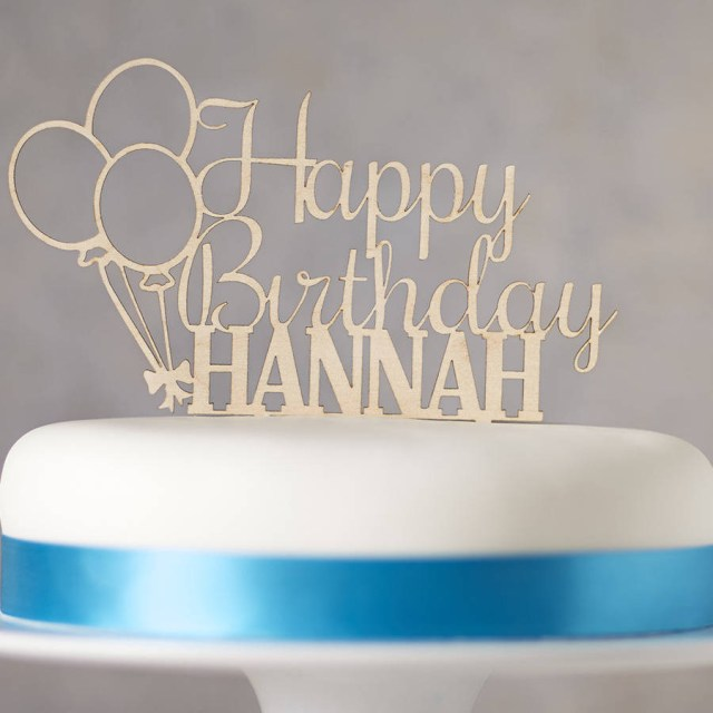 Birthday Cake Toppers For Adults Personalised Wooden Birthday Cake Topper Sophia Victoria Joy