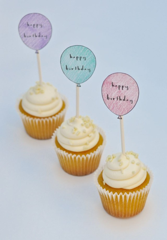 Birthday Cake Toppers Free Printable Birthday Cupcake Toppers Make Life Lovely