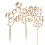 Birthday Cake Toppers Ginger Ray Wooden Happy Birthday Cake Topper Hobcraft