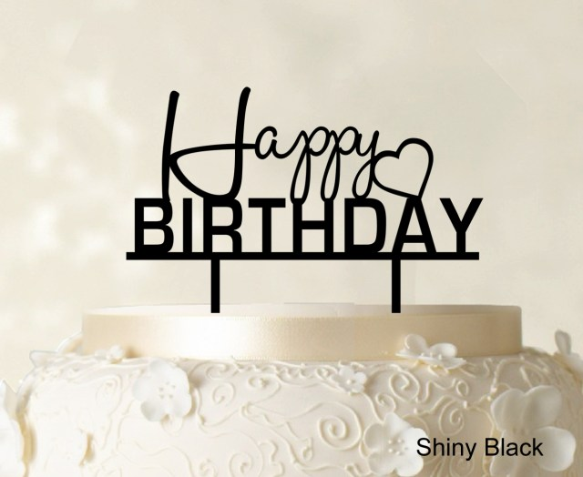 Birthday Cake Toppers Happy Birthday Cake Topper Personalized Cake Topper 6 7wide