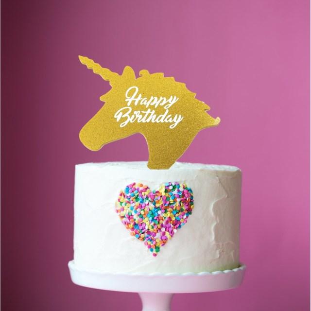 Birthday Cake Toppers Little Boo Teek Cake Topper Unicorn Birthday Gold Cake