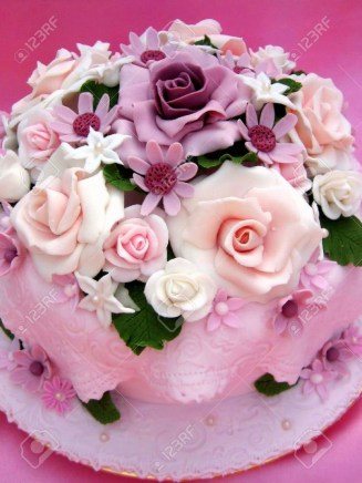 Birthday Cake With Flowers Flower Colorful Birthday Cake Stock Photo Picture And Royalty Free