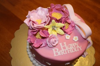 Birthday Cake With Flowers Happy Birthday Cake And Flower For The Special Person