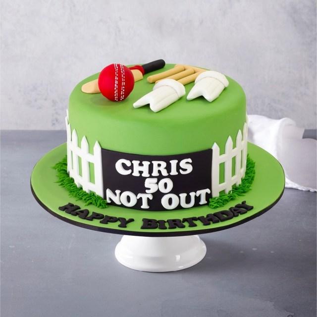 Birthday Cakes Cricket Custom Birthday Cake
