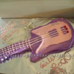 Birthday Cakes For 8 Years Old Girl Rockstar Guitar Cake For A 8 Year Old Girl