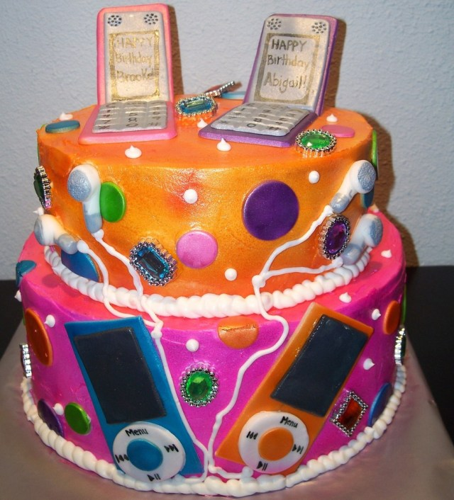 Birthday Cakes For Teenage Girl 2 Tier Twin Teenage Girl Cake Cakecentral