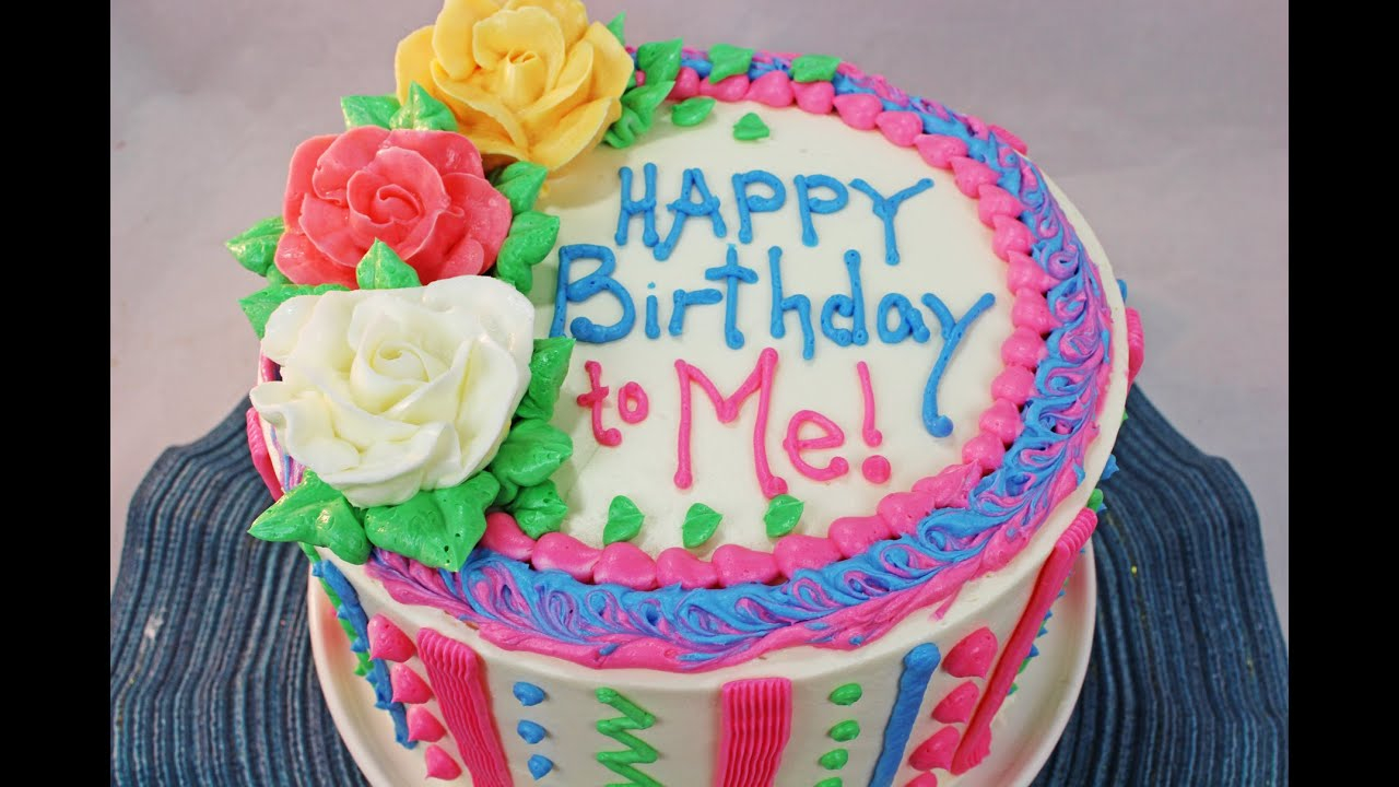 Birthday Cakes How To Make A Birthday Cake Beginners Tutorial Youtube