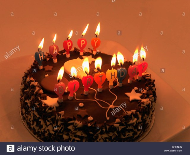 Birthday Cakes With Candles Chocolate Birthday Cake With Candles Stock Photo 31101021 Alamy