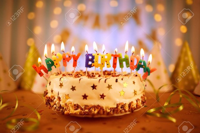 Birthday Cakes With Candles Happy Birthday Cake With Candles Stock Photo Picture And Royalty
